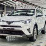 Завод Тойота вПетербурге начал производство кроссовера RAV4