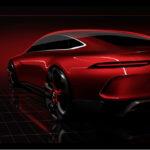 Компания Mercedes презентовала тизер четырехдеврного купе Mercedes-AMGGT Concept