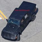 Пикап Jeep Wrangler свежей генерации снова попал вобъективы камер